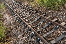 Small Abandoned Train Tracks A...