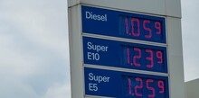 Sign Gas Station Prices Of Sup...