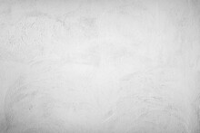 White Painted Concrete Wall As A Background Or Texture