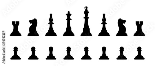 Leinwand Poster Chess figures