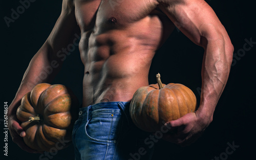 Fotomural Halloween man, party poster or greeting card