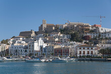 Ibiza Buildings On Hill And Ha...