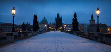 Charles Bridge At Night, Pragu...