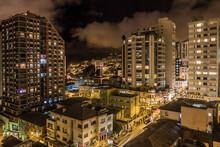 Down Town La Paz At Night, Bol...