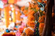 La Santa Muerte Altar With Ske...