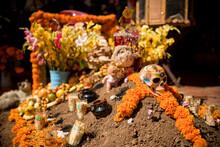 La Santa Muerte Altar With Flo...