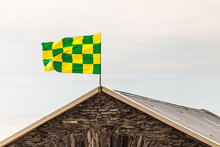 County Flag Of Kerry On Roof, Cahersiveen, County Kerry, Ireland