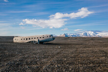 Abandoned Wreckage Of United States Navy Airplane (C-47 SkyTrain), Forced To Land On Solheimasandur In 1973, Iceland