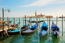 Gondolas In Front Of  San Gior...