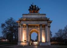 Exterior Of Wellington Arch At...
