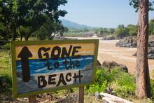Sign At Khone Phapheng Falls, Don Khon, Las