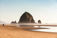 View Of Haystack Rock And Mist...