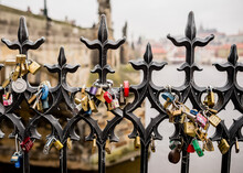 Padlocks On Railings, Charles ...
