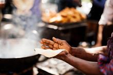 Chef Preparing Chole Bhature, ...