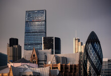 Skyline With The Cheesegrater And Gherkin Buildings, London, UK