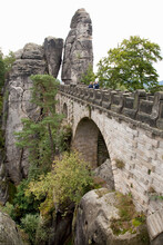 Elevated View Of Bastei Rocks ...