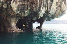 The Marble Caves On Lago General Carrera, Puerto Tranquilo, Chile