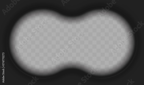 Obraz na plátně Vector Illustration of Binoculars Point of View Overlay Template