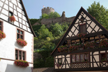Medieval Houses And Castle Rui...