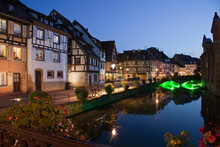 Medieval Houses Along Canal At...