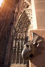 Gargoyle On Exterior Of Cathed...