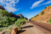 Camping And RV's Are Popular In Zion National Park