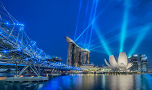 View Of Laser Show In Singapor...