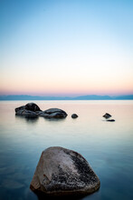 Scenic View Of Lake Tahoe Duri...