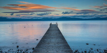 View Of Pier In Lake Tahoe Dur...
