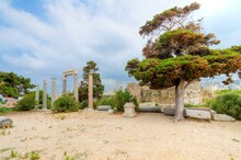 Gate Of Byblos Citadel With Columns