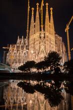 Exterior View Of La Sagrada Fa...