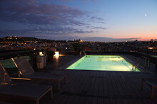 View Of Swimming Pool And City...