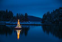 View Of Illuminated Christmas ...