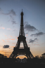 View Of Eiffel Tower During Sunset