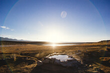 View Of Shepherd Hot Spring During Sunrise