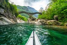 View Of Kayak In River