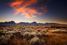 Scenic View Of Grand Teton National Park During Sunset