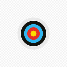 Daetboard Simple Illustration, Target, Business Goal Icon Concept In Vector Flat