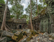 View Of Ancient Angkor Wat Temple
