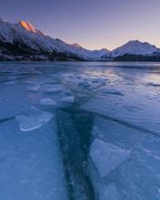 View Of Mount Cook With Frozen...