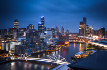 View Of Melbourne Cityscape At...