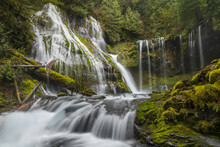 Scenic View Of Panther Creek Falls