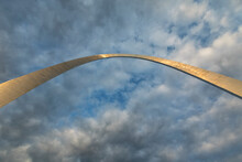 Low Angle View Of Iconic Gateway Arch In Saint Louis' Gateway Arch National Park