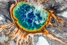 Aerial View Of Grand Prismatic Spring