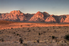 Scenic View Of Red Rock Canyon