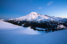 Mount Rainier Covered With Sno...