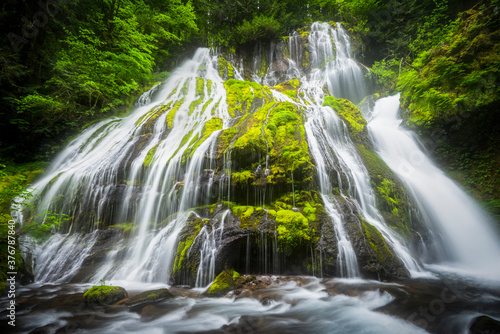 View of waterfall in rainforest - 376787840