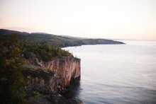 Scenic View Of Lake Superior And Shovel Point During Sunrise