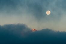 View Of Full Moon In Sky At Ni...