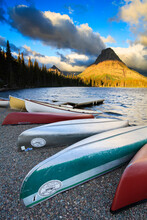 Canoes On Shore Of Two Medicin...